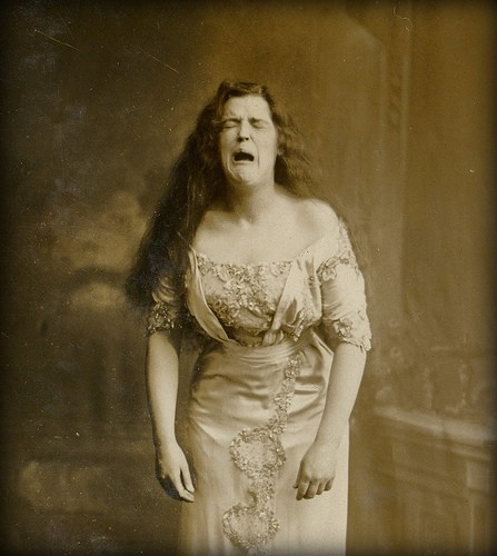 1900 Woman Caught Mid Sneeze