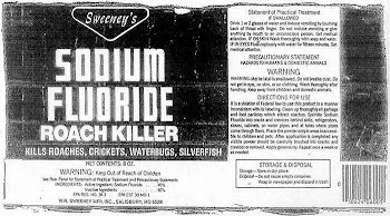 sodium fluoride .. its a poison..