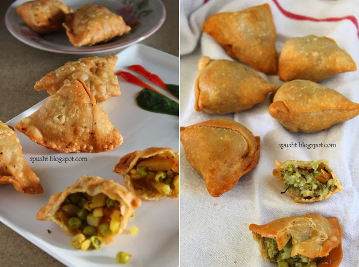 Spusht samosa recipe popular indian appetizer for Phyllo dough recipes appetizers indian