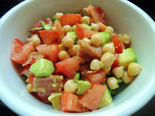 Bacon, Chickpea, Avocado Salad