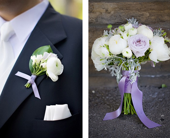 Garden Green and Violet Wedding Inspiration Board