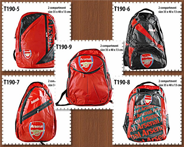 tas ransel, tas backpack, klub bola, fc, arsenal tas backpack fc,  arsenal, anna gallery di tangerang