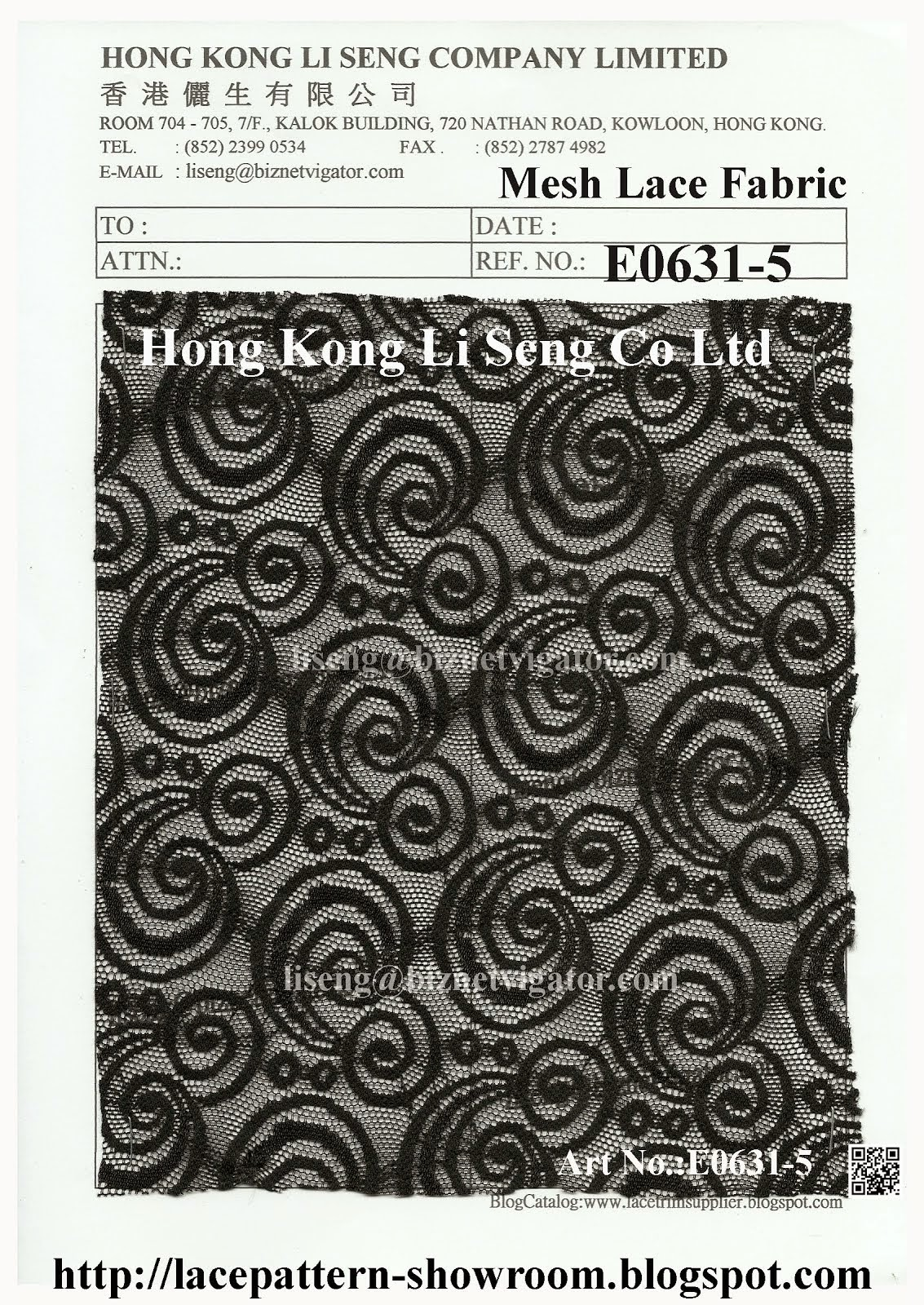Black Mesh Lace Fabric Wholesaler Manufacturer And Supplier - Hong Kong Li Seng Co Ltd