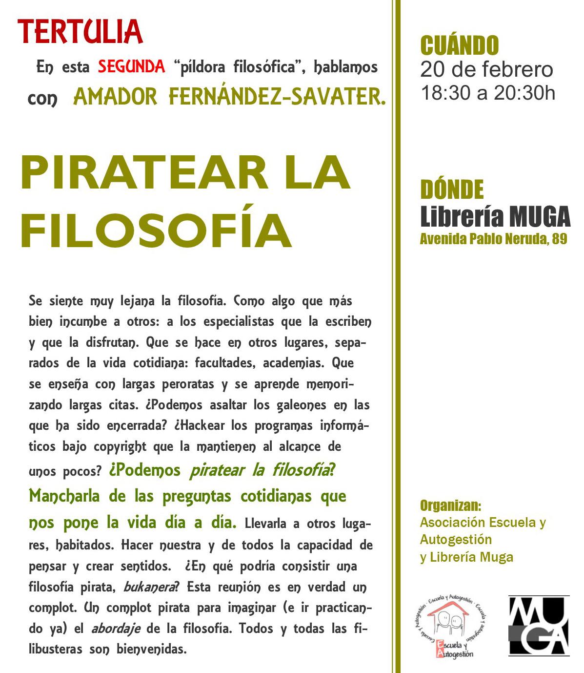 """Piratear la filosofía"" con Amador Fernández-Savater"