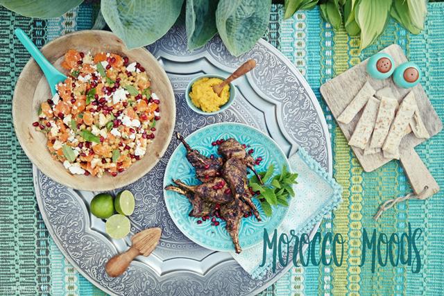 luzia pimpinella | grill rezept - marokkanische lamm koteletts, orientalischer karotten-kichererbsen salat und möhren-hummus |  BBQ recipe - moroccan lamp chops, oriental carrot chickpea salad & hummus