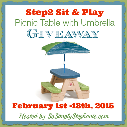 Step2 Sit and Play Picnic Table with Umbrella Blogger Opp. Event starts 2/1.