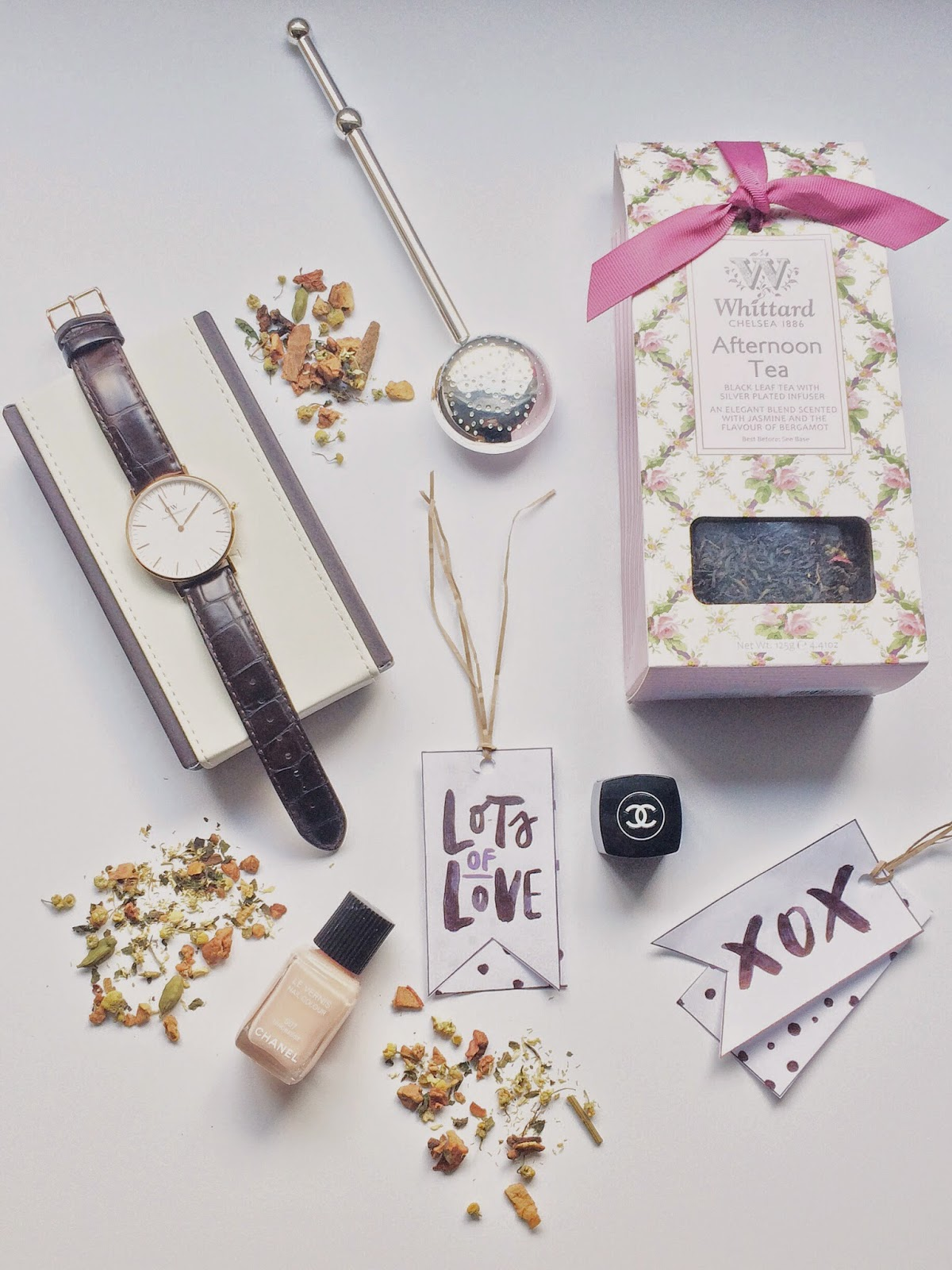 daniel wellington watch, daniel wellington watch discount code, stocking filler ideas, whitteard tea