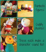 Peppa Pig Theme Park Figures are great on their own to use during . (pp collage)