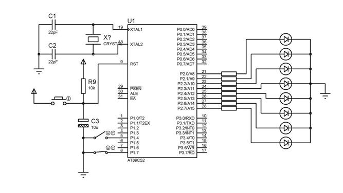 microcontroller projects and tutorials  chasing led u0026 39 s
