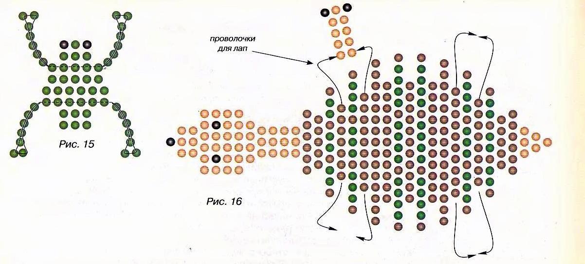 схемы плетение бисером матрешек