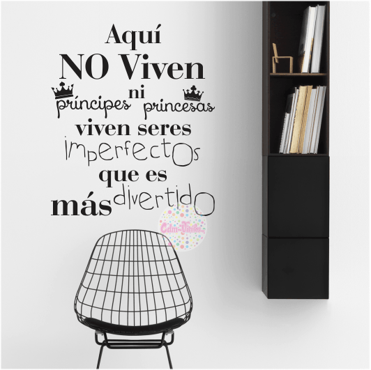 Vinilo decorativo para pared frase imperfectos cdm for Pegatinas frases pared