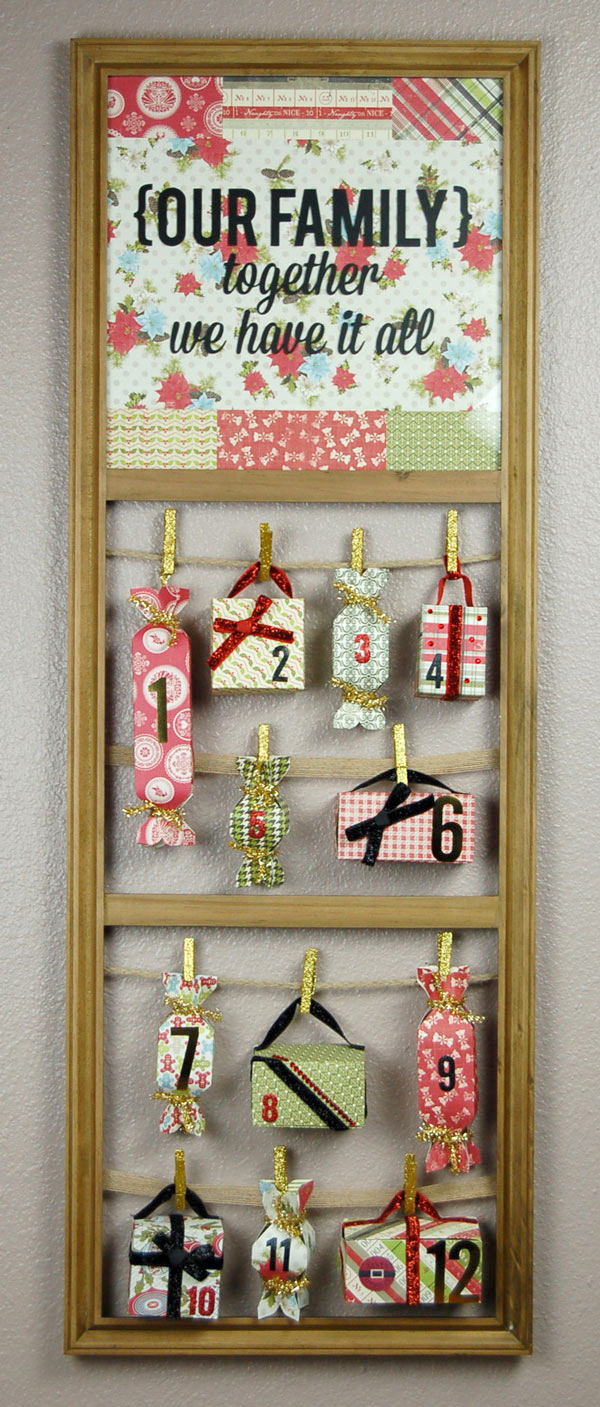 12 Days of Christmas Countdown Advent @craftsavvy #craftwarehouse #authentique #christmas #diy #advent #calendar