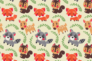Happy Forest Friends Pattern by Haidi Shabrina