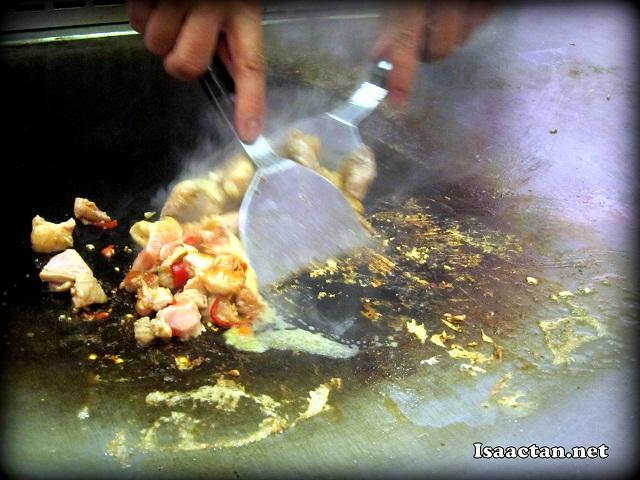 Cooking a Chicken Chop Set