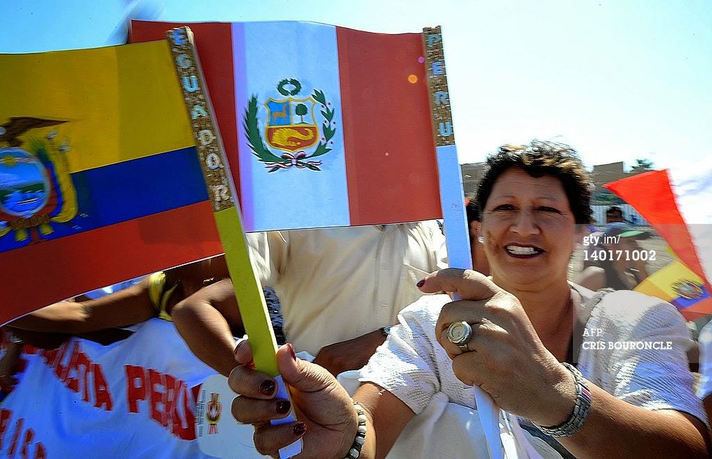 flags Ecuador Perú