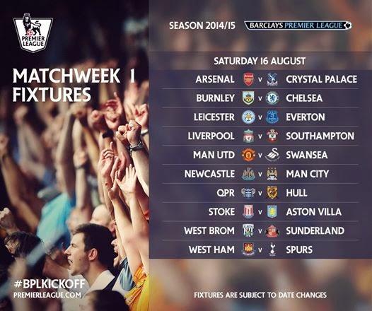 liga inggris, bpl, jadwal, 2014, 2015|Jadwal Lengkap Barclays Premier League Musim 2014-2015 | Liga Inggris/BPL|rezdown7.com