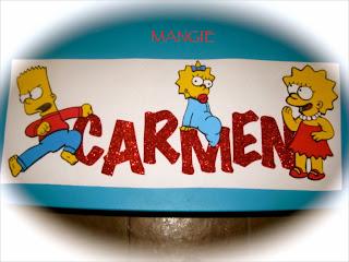 Distribución del cartel Simpson
