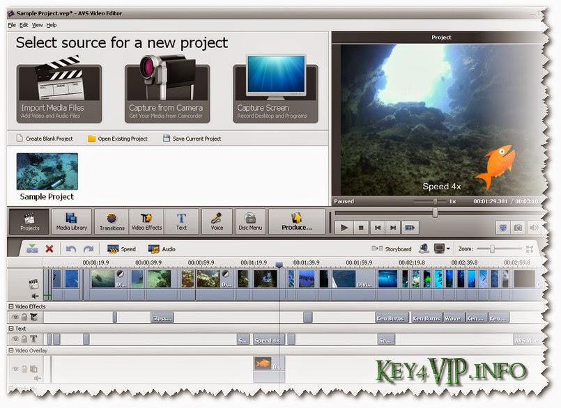 AVS Video Editor 6.3.2.234 Full Key,Phần mềm quay và dựng phim chuyên nghiệp