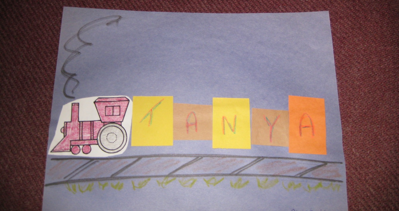 Preschool Storytime Crafts: Name Train