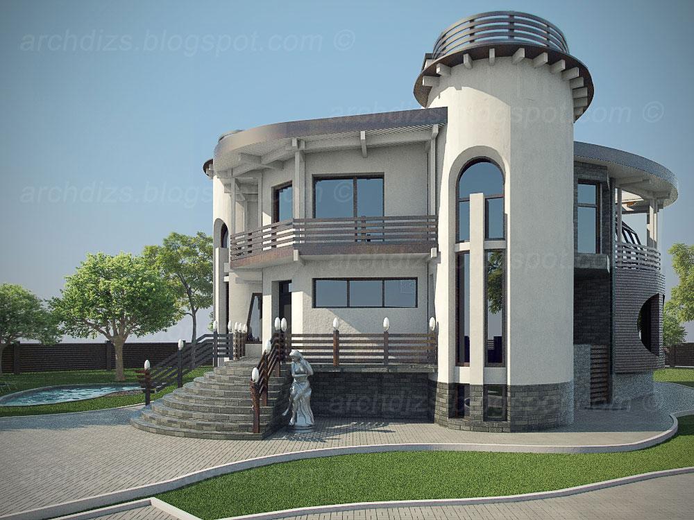 Разработка дизайна фасадов дома