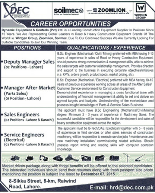 Engineers Jobs Dynamic Engineering & Controls