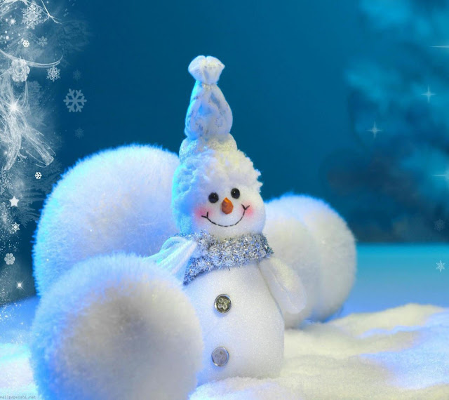 snow man christmas image