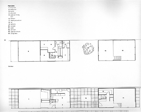 Space72 eames house for Case study houses floor plans