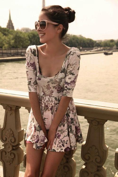 Summer ♥ Love Love floral print skate skirt