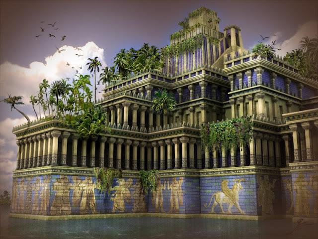 jardines colgantes de babilonia no colgaban realmente en el sentido de
