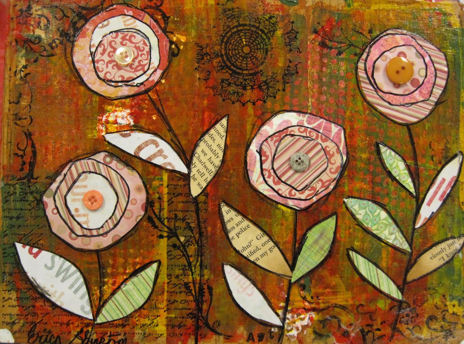 Angela Anderson Art Blog Mixed Media Flowers Kid S Art