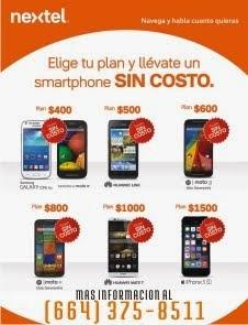NEXTEL: Elige tu plan y llévate un smartphone SIN COSTO