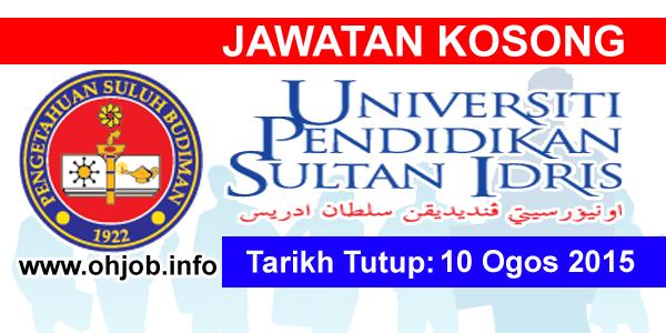 Jawatan Kerja Kosong Universiti Pendidikan Sultan Idris (UPSI) logo www.ohjob.info ogos 2015
