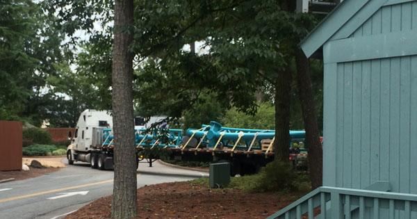 Insanity Lurks Inside Busch Gardens Williamsburg New Coaster Track On Site