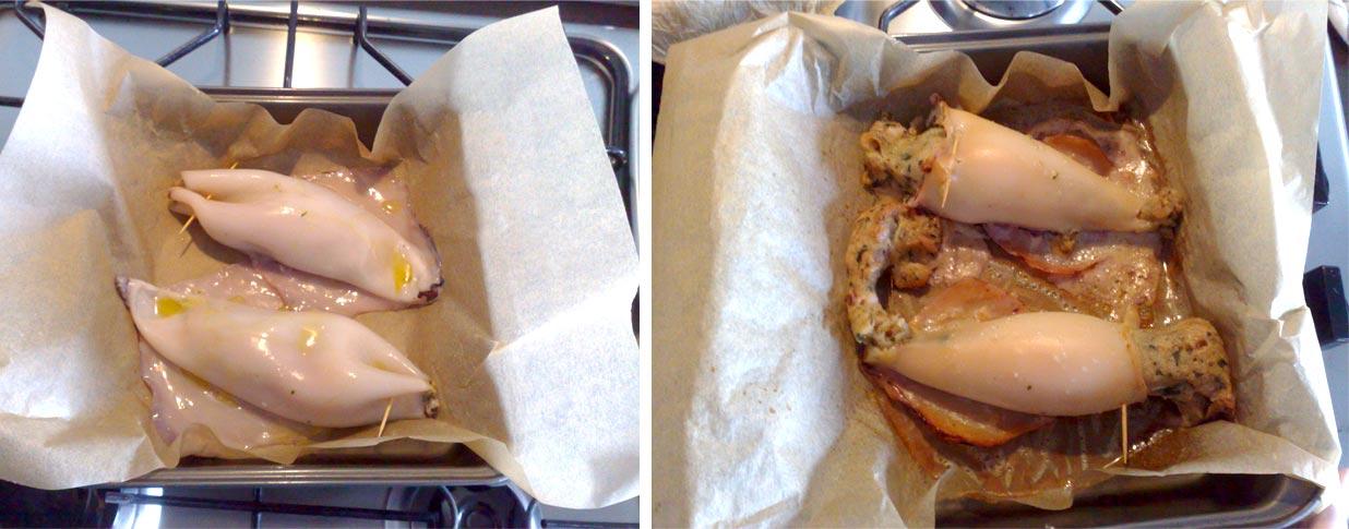 Calamari ripieni con patate al forno spadellatissima - Forno e microonde insieme ...
