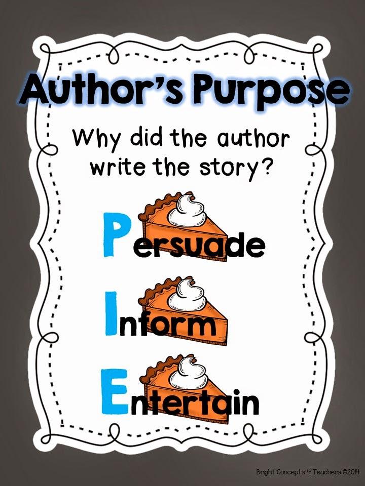 Author's Purpose | Reading | Pinterest | Purpose, Classroom ...