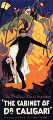 Cartel de la película El gabinete del doctor Caligari, versión inglesa (1920)