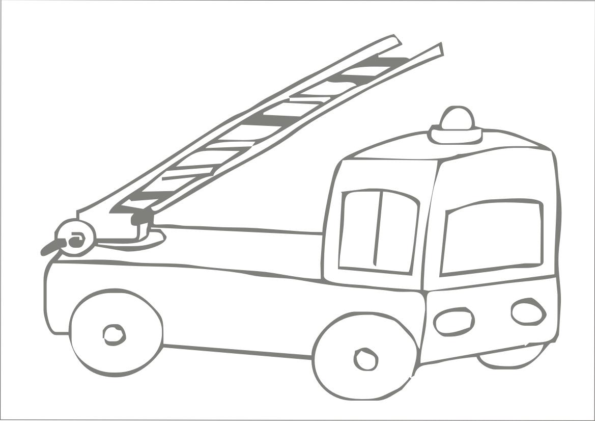 desenhos para colorir desenho para colorir de caminhão de bombeiro