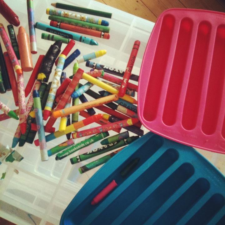 make multicoloured crayons. Black Bedroom Furniture Sets. Home Design Ideas