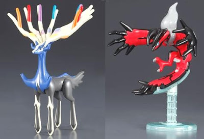 Xerneas Yveltal Mini Pokemon Plamo Bandai