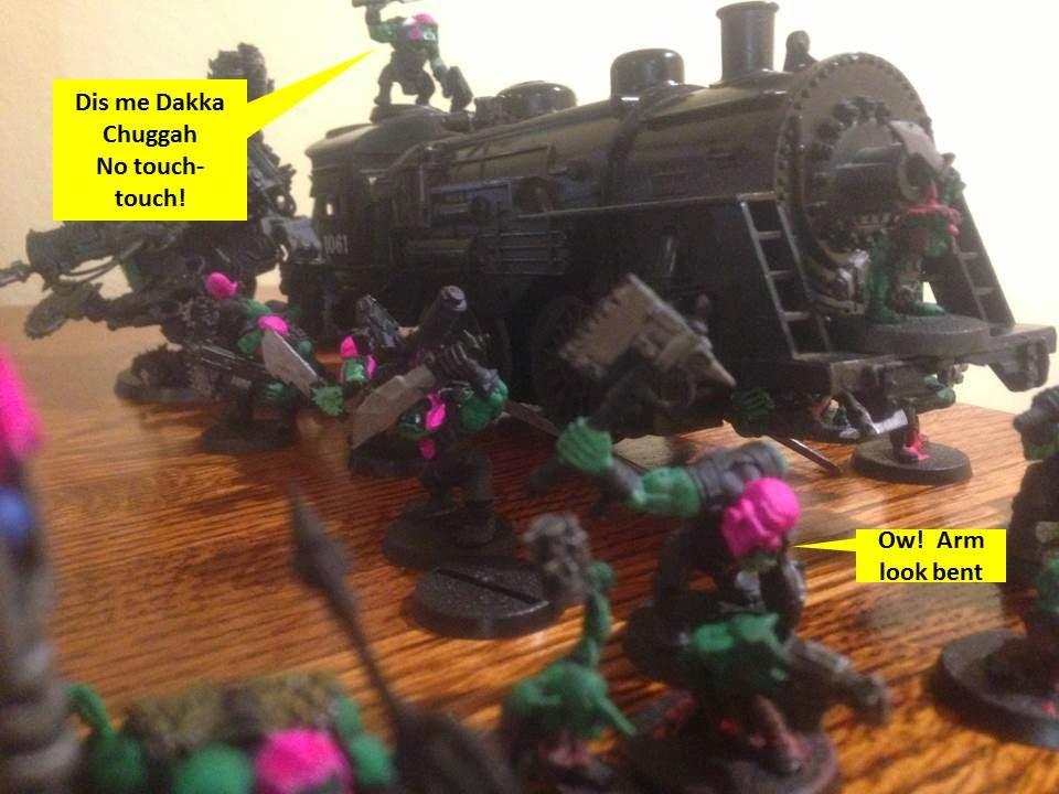 Warhammer 40K pink orks looted wagon lionel locomotive