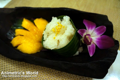 Sticky Rice with Mango at Thai Bistro