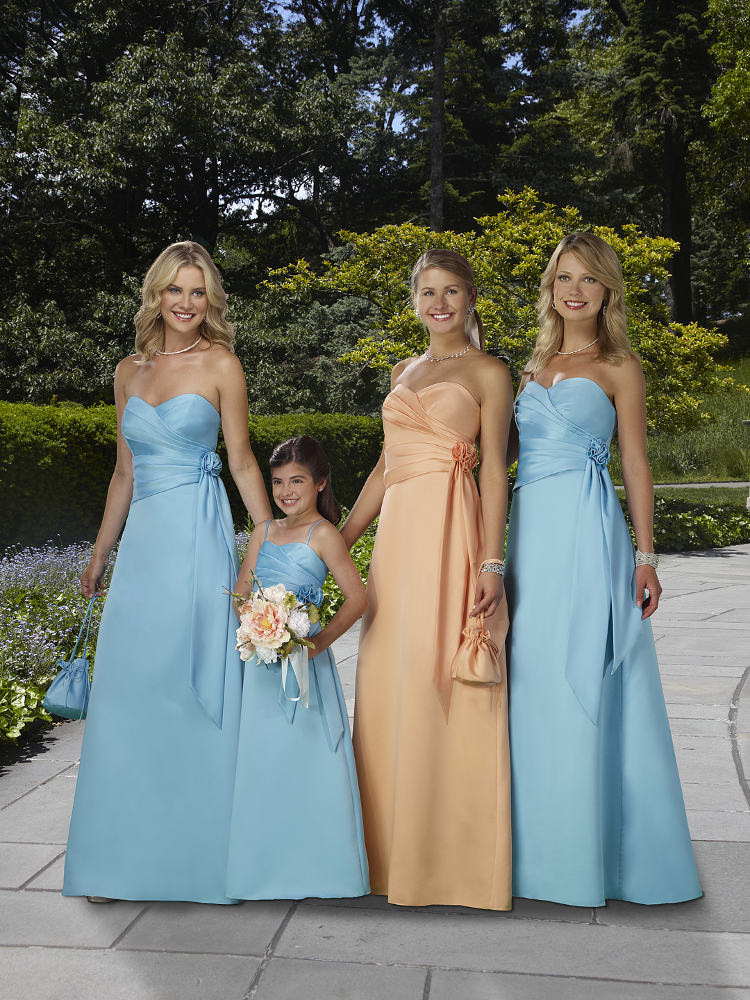 blue juniors bridesmaid dresses