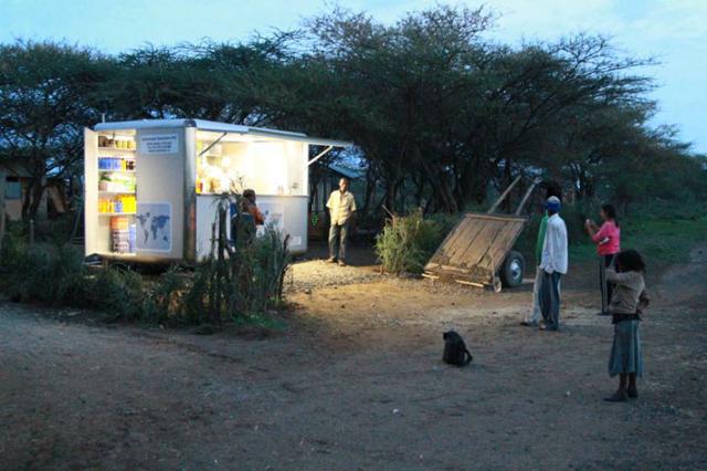 Primeiro quiosque solar aberto na Etiópia
