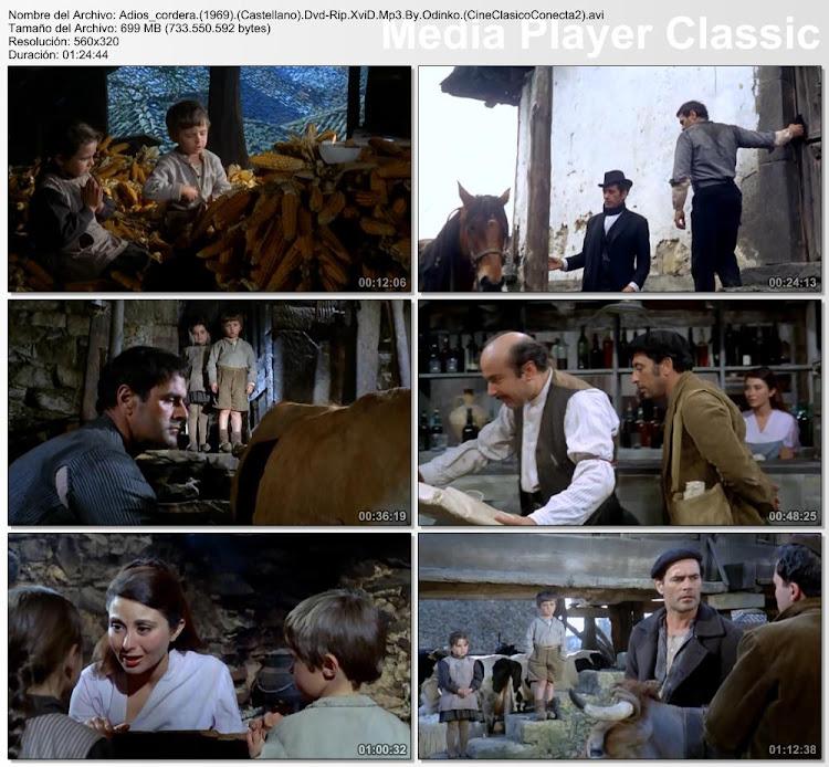 secuencias de la película: Adiós cordera | 1969