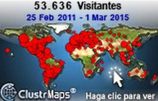 Visitantes por el mundo (hasta febrero 2015)