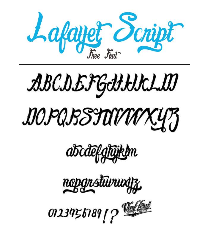 35 Font Script untuk Desain grafis - Lafayet Script Font