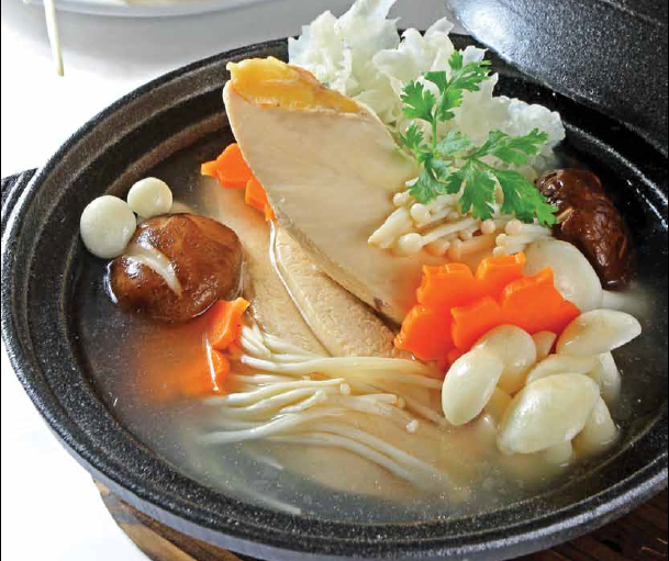 Chicken and Mushroom Soup - Canh thịt gà nấu nấm