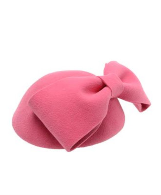 Bow Rabbit Felt Hat