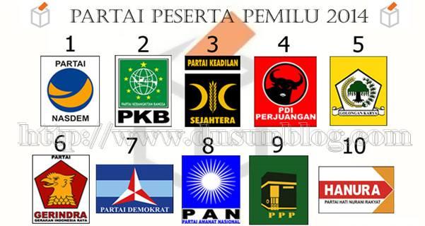Nomor Urut Partai Di Pemilu 2014