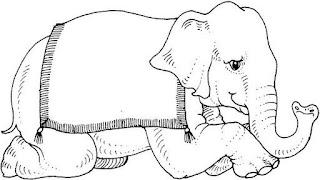 riscos para pintura de elefantes